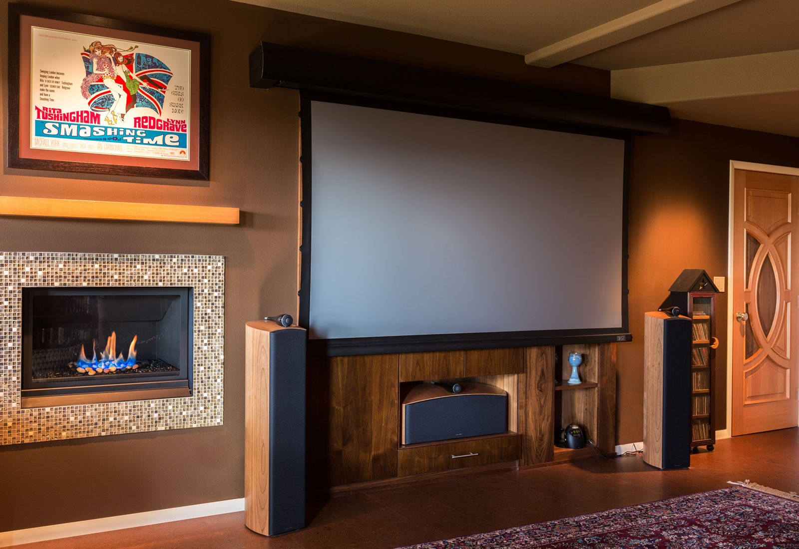 home theater design - Henderer Design + Build, Corvallis OR