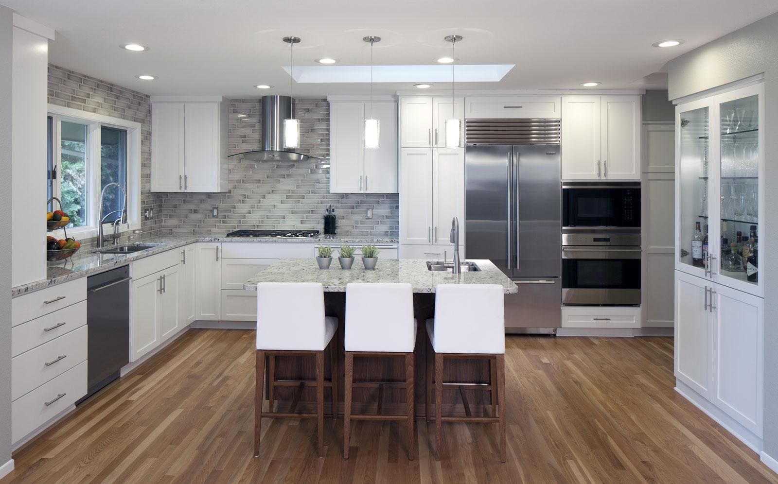 contemporary kitchen remodel, home remodeler - Henderer Design + Build, Corvallis OR