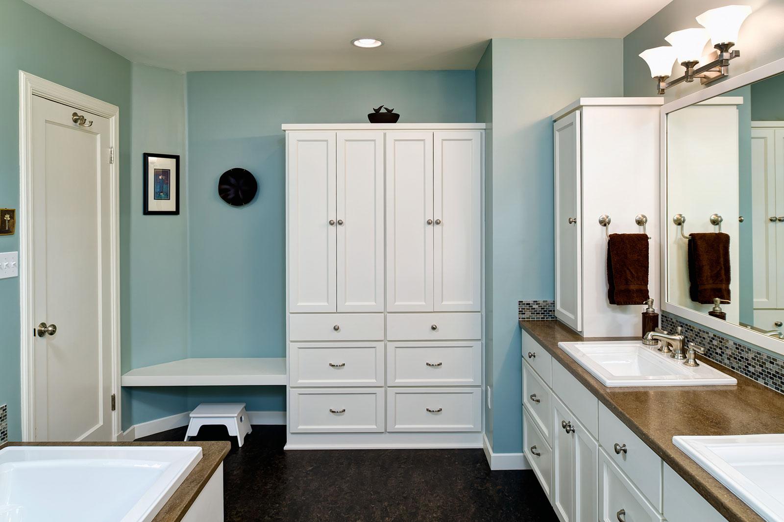 master bathroom remodel - Henderer Design + Build, Corvallis OR
