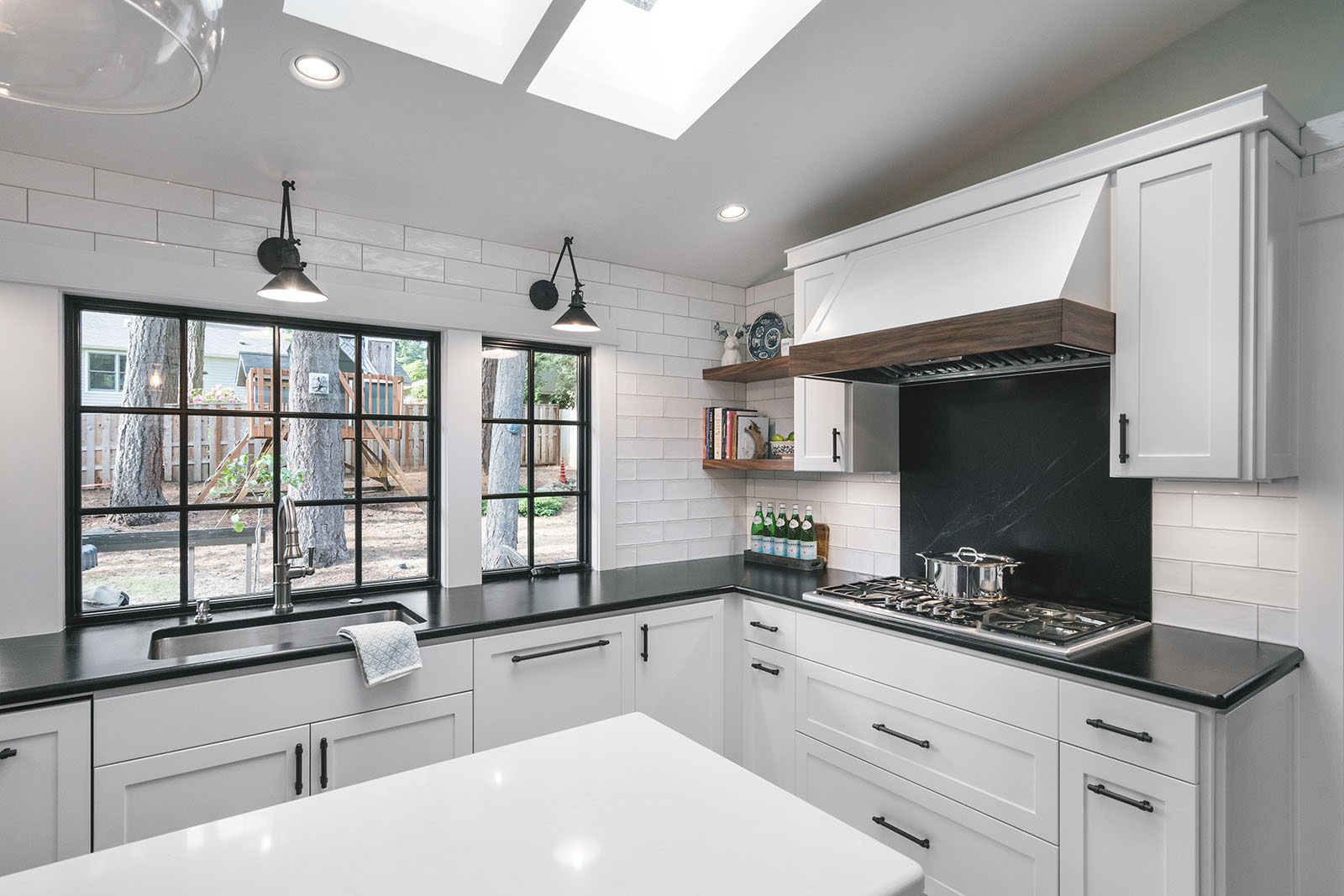 industrial kitchen design, home remodel - Henderer Design + Build, Corvallis OR