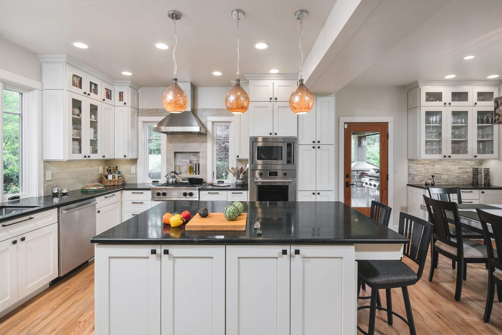 Craftsman kitchen design and remodel. A home remodel project by Henderer Design + Build, OR