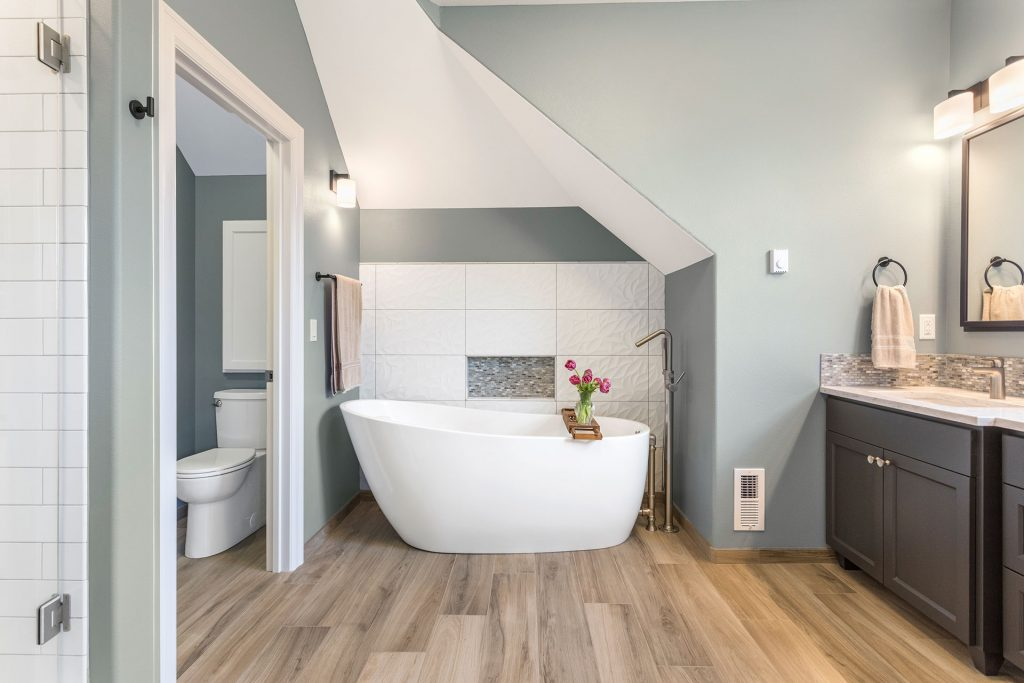 Contemporary Flair Master Suite and Bathroom